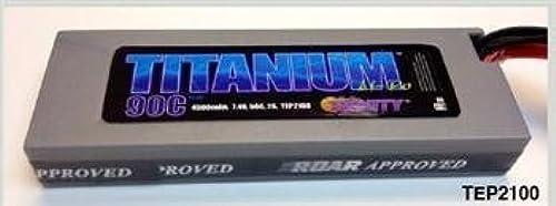 Titanium Racing 4500mAh LiPo, 7.4v, 2s 50c  Deans by Trinity