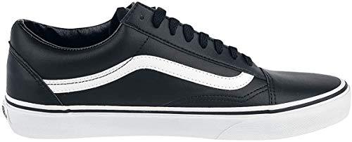 Vans Unisex-Erwachsene Old Skool Leather Sneaker, Schwarz (Classic Tumble/Black/True White), 39 EU