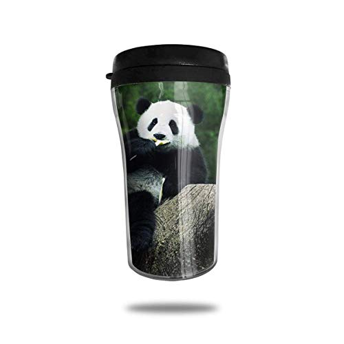 Panda Bear Diet Travel Coffee Mug 3D Printed Portable Vacuum Cup,Insulated Tea Cup Water Bottle Tumblers for Drinking with Lid 8.54 Oz (250 Ml)