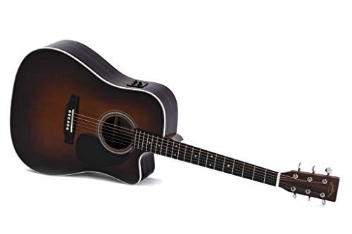 Guitarra Acústica/Electroacústica Sigma DTC-1STE+ Sunburst