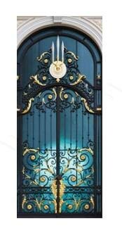 DFKJ Pegatinas de Puerta 3D Pegatinas de Pared de la Puerta Papel Tapiz Mural Carteles autoadhesivos extraíbles Pegatinas de Puerta Impermeables decoración del hogar A4 77x200cm