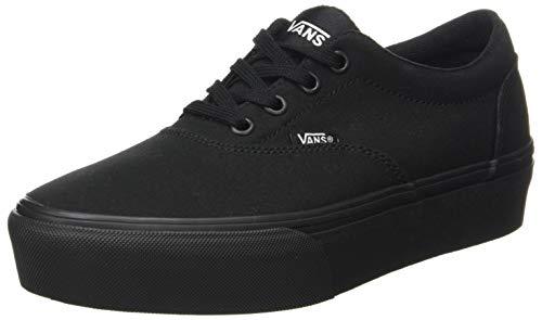 Vans Doheny Platform, Sneaker para Mujer, Lona Negra, 37 EU