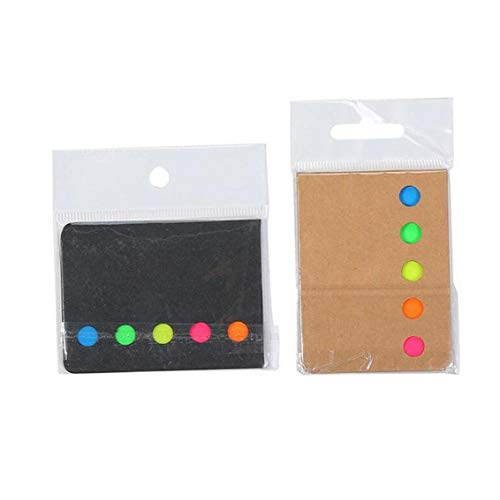 Index Tabs Bookmark Stickers and Memo Flags Color Coded Sticky Notes Self Stick Note Pads Post Notes for Students Office Home Use 2set