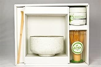 Aiya Matcha Gift Set (Ceremonial Matcha, Pure White)