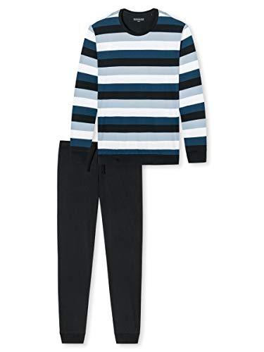 Schiesser Herren Lang 159633 Zweiteiliger Schlafanzug, Mehrfarbig (Multicolor 2 913), Large (Herstellergröße: 052)