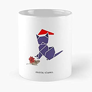 Santa Paws - Christmas Card Classic Mug The Funny Coffee Mugs For Halloween, Holiday, Party Decoration 11 Ounce White Cettire.