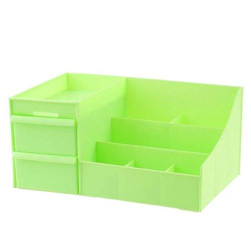 Weimay Desktop de cosméticos Caja Piel Cuidado Grandes cajón Rack Joyas y plástico Caja Verde Verde 19 * 12.5810cm