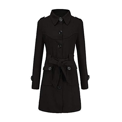 Adelina wol mantel winterjas lange eenrijige tweed mantel met reverskraag vrouwen modieuze completi elegante warme trench parka jas winterjas wollen jas overgangsjas met riem
