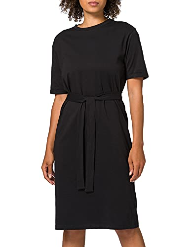 Vero Moda VMOLIVA SS O-Neck Blk Dress VMA Vestito, Nero, M Donna