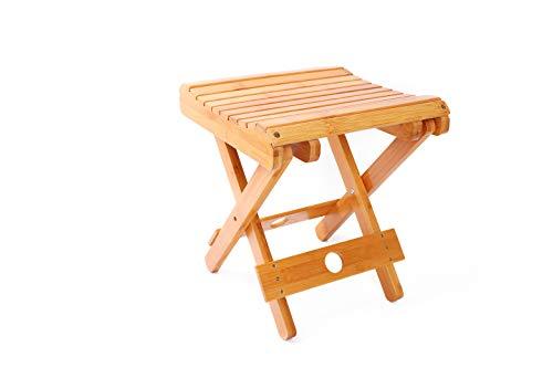 折りたたみチェア アウトドアチェア 竹製 椅子 腰掛け チェア キャンプ用品 軽量 頑丈 踏み台 脚立 組み立て不要 お釣り 登山 持ち運び 耐荷重150KG 幅27.8×奥行28×高さ31cm 防水 耐摩耗 かわいい