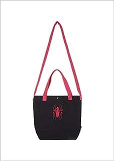 Miniso MARVEL- Embroidered Shopping Bag (Black & Red)