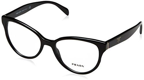 Prada Damen 0PR 01UV Brillengestell, Schwarz (Black), 52 EU