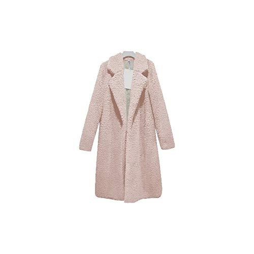 Vrouwen Winterjas Mode Effen Blend Wit Lange Jas Vintage Draai Omlaag Kraag Streetwear Jassen