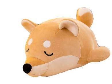 OZIF Shiba Inu Plush Pillow Toy Anime, Corgi Plush Toy, itty Bitty Boo Plush, Soft Pillow Doll Dog Plush, Husky Plush Toy, Gifts for Girl Boy 25 cm (Shiba Inu Sleepy Brown Pillow)