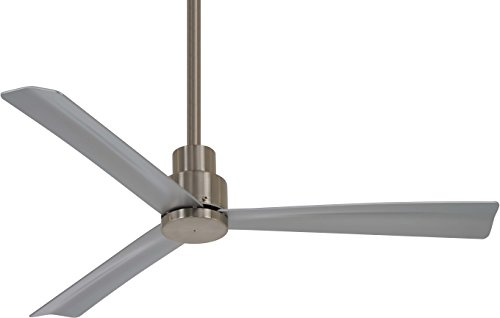 "52"" Minka Aire Simple Brushed Nickel Wet Ceiling Fan"