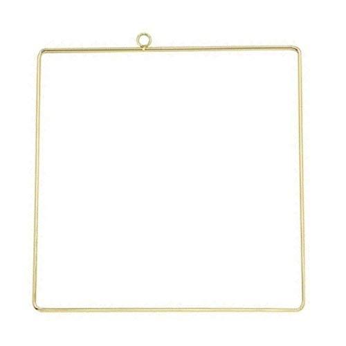 WLYX Oro Falso Guirnalda de Metal Anillos Triángulo 2 de Alto Grado, la Boda de decoración del hogar, Accesorios Pendientes de Utilizar for la decoración Crafts (Color : B, Size : 2pcs)