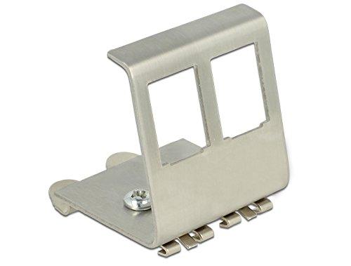 DeLock Keystone Metall Halterung 2 Port für Hutschiene