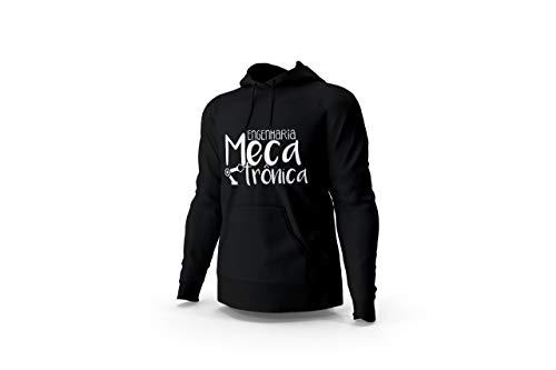 Blusa Moletom Casaco Engenharia Mecatrônica Faculdade Unissex Preto Tamanho:M