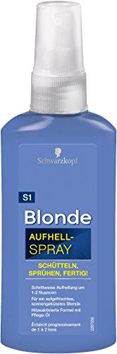 Schwarzkopf Blonde Aufheller S1 Aufhellspray, Stufe 3, 3er Pack (3 x 125 ml)