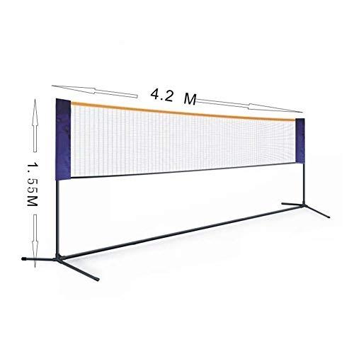 Badminton Set Standard Voor Portable Net Tennis, Pickleball, Kinderen Volleybal - Easy Setup Met Sports Net Palen - Voor De Binnenste of Outer Court, Strand, Oprit