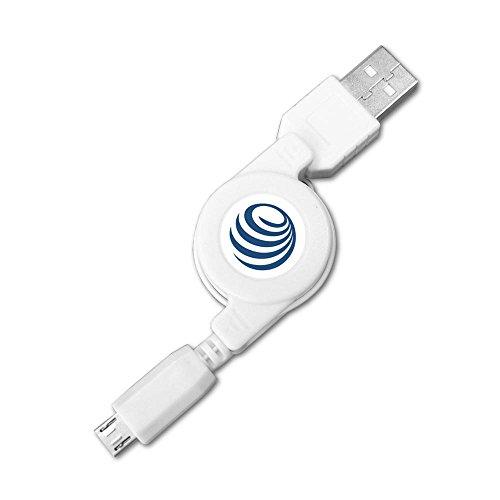 Ausziehbares Micro USB 2.0 Kabel Rollkabel Kabelrolle Ladekabel Datenkabel für Datenübertragung für Nokia N8 515 206 Lumia 520 625 630 920 925 1020 1520 Asha 300 (USB-A Stecker an Micro-B Stecker)