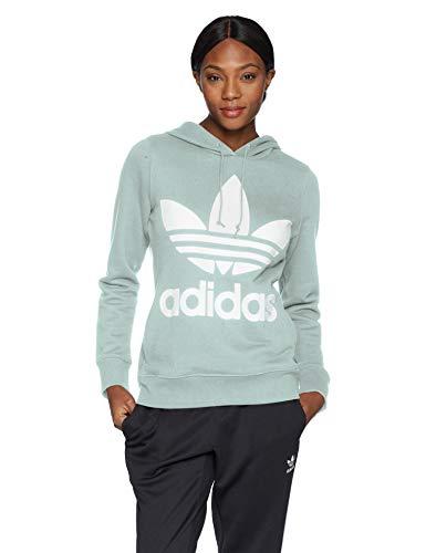 adidas Originals Damen Trefoil Hooded Sweatshirt, Dampfgrün, Medium