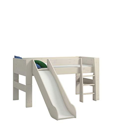 Steens For Kids Kinderbett inkl. Absturzsicherung und Leiter, Liegefläche 90 x 200 cm, Kiefer massiv, weiss