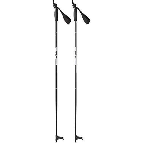 Tecno Pro Kinder Langlaufstock Langlauf-Stock Active Alu schwarz Weiss, Länge:115