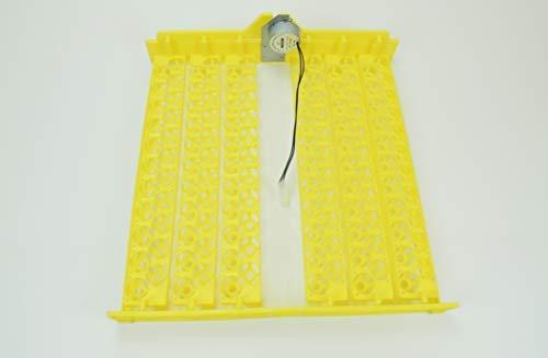 Campo24 Wachtelwendehorde für Inkubator, Motorbrüter, Flächenbrüter, Brutapparat (gelb)