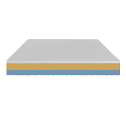 Baldiflex Colchón individual de Memory 3 capas Arcobaleno Monozona H 23 cm 90 x 190 cm funda Aloe Vera