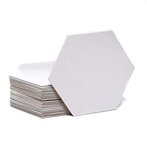 Vorteilspackung von 24 Stück, blanko, 8,9 cm, unbeschichtete Spanplatten, sechseckig, Brettspiele, Zähler, Marker, Chits DIY D&D