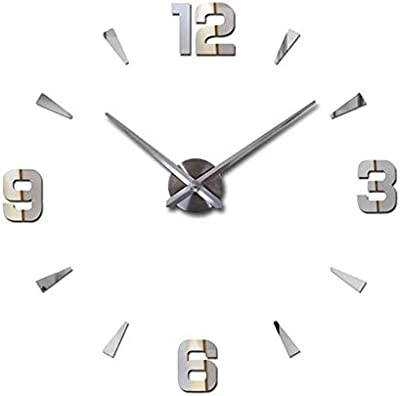 RUEbahl Simple 3D Large Modern Digital Wall Clock DIY Design Stickers Home Decoration Wall Stickers Clock