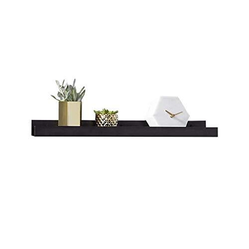 LY Drijvende Plank Zwart voor Slaapkamer, Lange Metalen Wandplank boven Bed,Home Decoratieve Display Partitie Opslagrek