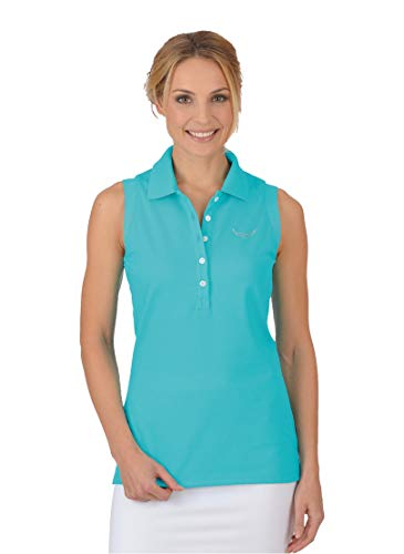 Trigema Damen 526411 Poloshirt, Blau (Azur 051), Medium