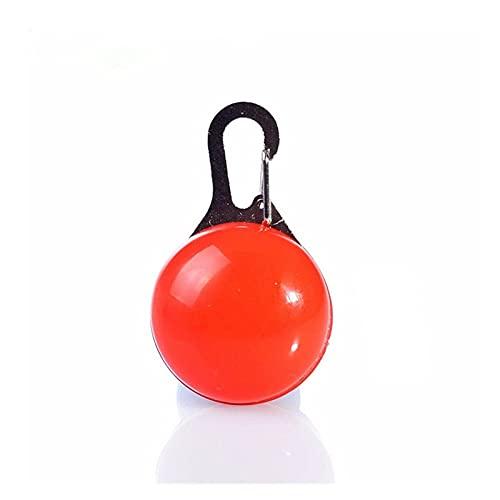 Lwllbh Collar de Mascotas Collar de Perro Collar de Perro luz Colgante Collar Luminoso Suministros para Mascotas Accesorios para Perros (Color : Red Pet Collar, Size : 3.5cm in Diameter)