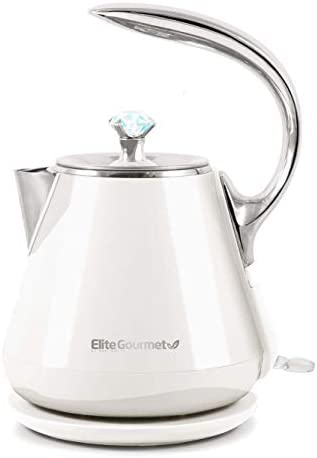 Elite Gourmet Double Wall Insulated Cool Touch Electric Water Tea Kettle BPA Free Stainless product image