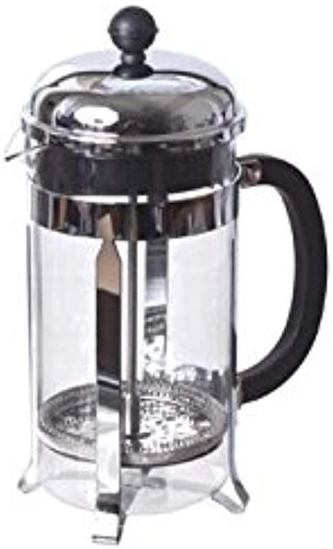 French Press Stainless 8 Cup Glass
