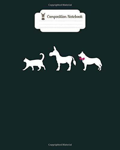 Composition Notebook: rude pussy ass bitch adult rebus cat donkey dog - for men woman Journal/Notebook Blank Lined Ruled 100 pages 8x10 inches