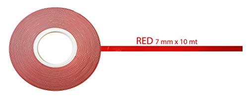 Cinta decorativa adhesiva para carrocería 10 m x 7 mm rojo