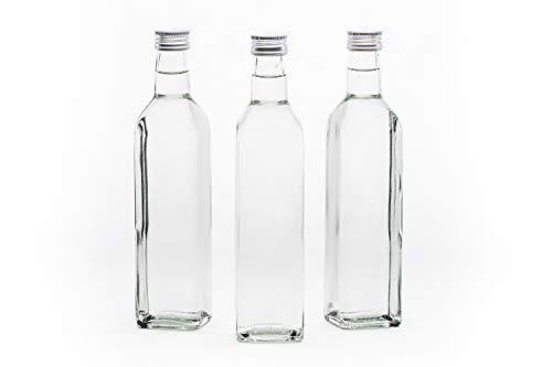 slkfactory 12 Leere Glasflaschen 250 ml MAR Flaschen mit Verschluss kleine Likörflaschen Schnapsflaschen Saftflaschen Flasche zum selbst abfüllen Nr. 200