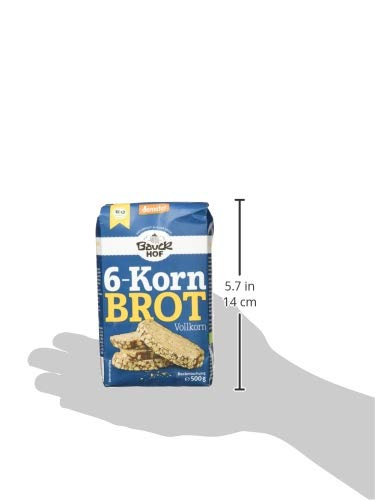 Bauckhof 6-Korn-Brot Vollkorn Demeter, 6er Pack (6 x 500 g) - 4