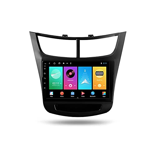 Radio de coche in-Dash Audio 2 Din Head Unit Android 9 '' pantalla táctil 5G WiFi información del coche Plug and Play Full RCA SWC Soporte Carautoplay/GPS/DAB+/OBDII para Chevrolet Sail 2015-2018