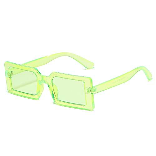 Gafas de Sol Gafas De Sol Cuadradas Pequeñas para Mujer Y Hombre, Diseño Vintage De Moda, Lentes De Gradiente Verde, Gafas De Sol para Mujer, Uv400, Verde Claro