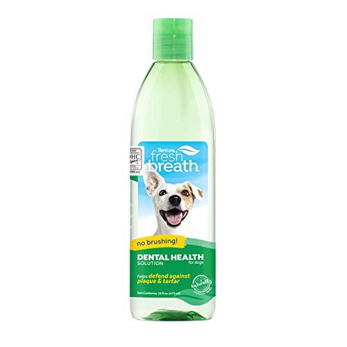 TropiClean Atemerfrischer für Hunde - Mundpflege-Wasserzusatz für Hunde, Haustiere, Katzen I Bürstenlos I Bekämpft Plaque & Zahnstein - 473 ml