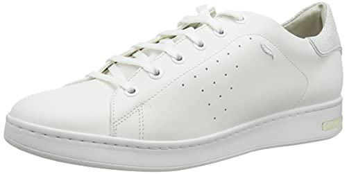 Geox D Jaysen A, Zapatillas Mujer, Blanco, 37 EU