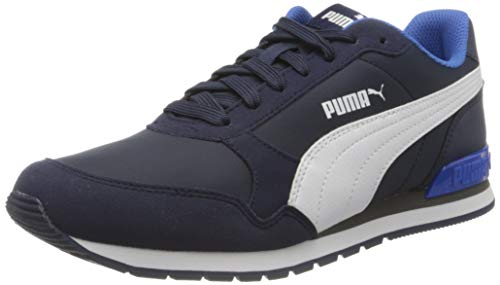 PUMA Unisex-Erwachsene St Runner V2 Nl Sneaker, Blau (Peacoat-Puma White-Palace Blue 28), 43 EU