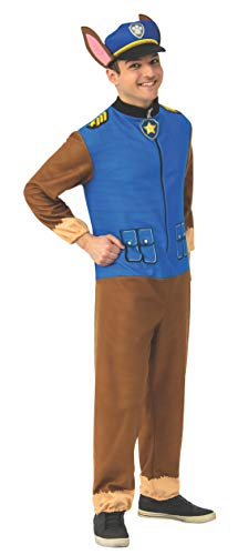 Rubie s Men s Paw Patrol Chase Jumpsuit Adult Sized Costumes, As Shown, Standard US