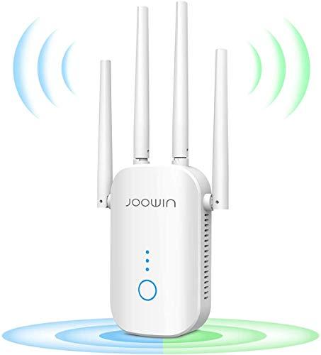 JOOWIN WiFi Repetidor 1200Mbps 2.4 GHz y 5GHz Amplificador de Señal de Red WiFi de Doble Frecuencia Punto de Acceso Inalámbrico Enrutador...