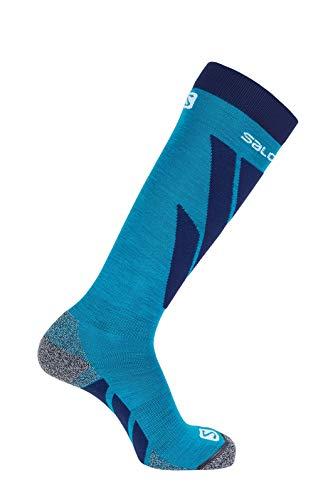 Salomon 1 Paar Dicke Unisex-Socken, S/Access, blau (hawaiian surf)/blau (medieval blue), Größe M (39-41), LC1018400