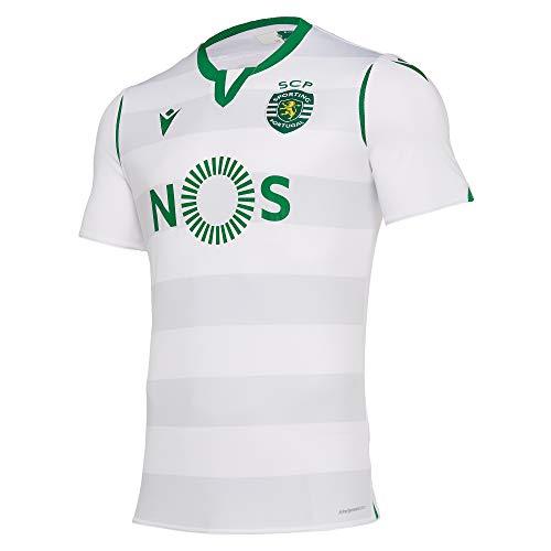 Macron Sporting Lisboa Tercera Equipación 2019-2020, Camiseta, White, Talla M